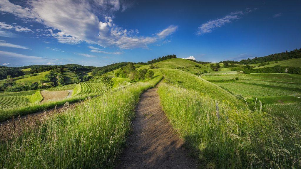 a path along a hill top