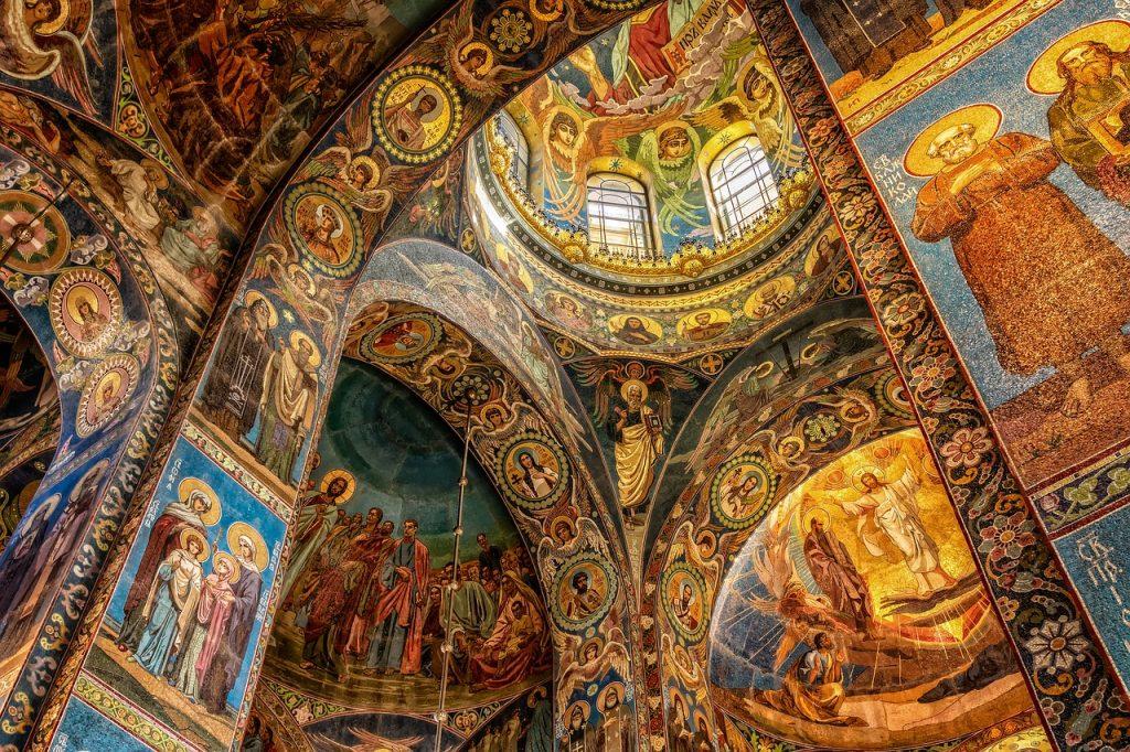 Mosaics in a church