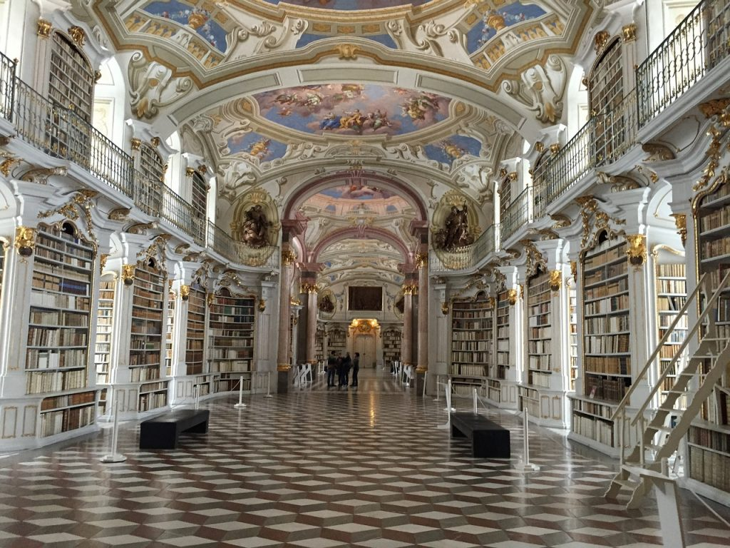 Interior of an ornate library