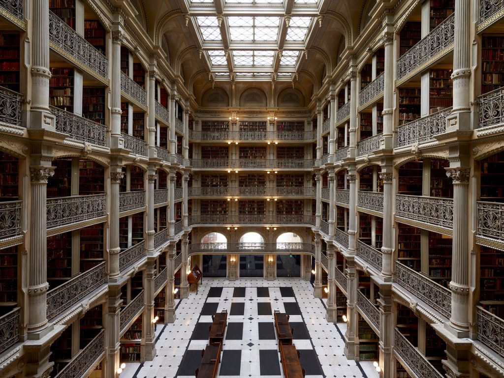 library at the Peabody Institute