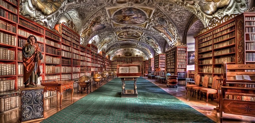 ornate library