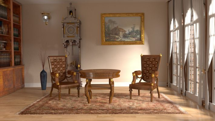 A sitting room with two chairs