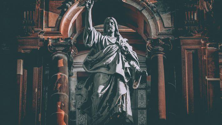 A statue of God